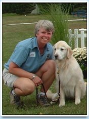Image: Picture of Dr. Mary Stankovics and her wonderful dog Krumpet.