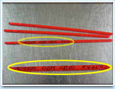 Image: Straws showing inset of Dog Identification Number.